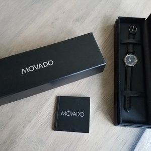 Ladies Movado Watch with Black Strap